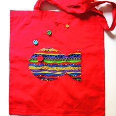 bolsa para todo roja con Pez - Cara A