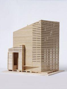 Architecture Model Making, Architecture 3d, Architecture Sketchbook, Architecture Portfolio, Architecture Diagrams, Sauna Design, Container Shop, Arch Model, Miniature Houses