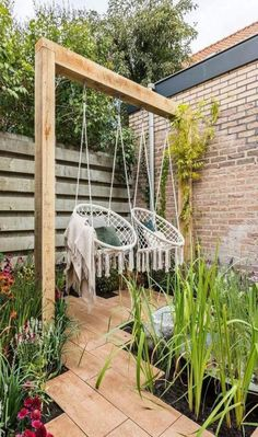 Dekoration Awesome Backyard Garden Ideas Relaxing Seat seats SWINGGarden swing seat 80 Awesome Garden Swing Seats Ideas for Backyard Relaxing Outdoor Spaces, Outdoor Living, Outdoor Decor, Outdoor Seating, Garden Seating, Outdoor Furniture, Outdoor Ideas, Backyard Seating, Furniture Plans