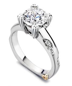 Cosmic Contemporary Engagement Ring