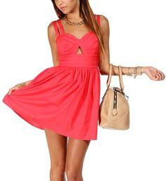 Coral Double Strap Sundress