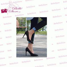 Pantofi cu toc | Pantofi cu toc elegant | Pantofi negri | Pantofi stiletto | Pantofi casual