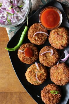 Kerala is a fish loving community and we have created an incredible variety of dishes featuring fish. Of all these dishes, fish cutlet is by far my favorite. To make cutlets, firm fleshed fish such as tuna or mackerel is cooked along with spices, onion and herbs. The bones are then removed, and the