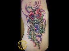 Earth Owl Rib Tattoo done by Sean Ambrose at Arrows and Embers Custom ...