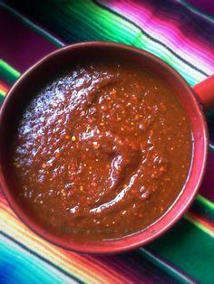 Salsa Ranchera, Chile Ancho, Tomatillos, Chile de Arbol...wow que salsas mas ricas!!