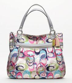 Cute Coach purse!  Poppy ikat glam tote