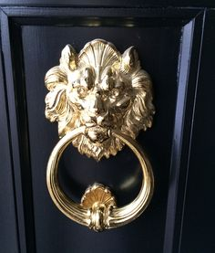Lion Head With Ring Brass Door Knocker. See More. Image