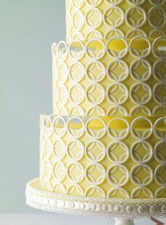 modern yellow cake