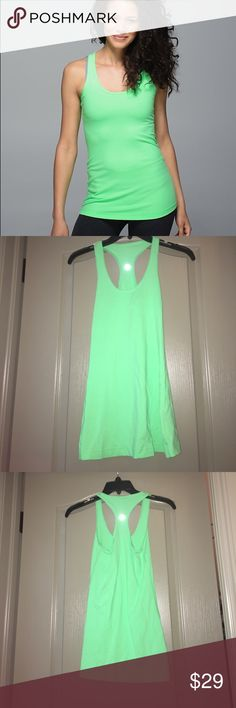 Lululemon Cool Racerback Tank This top has only been worn once and is great condition! No pilling or snags! Such a beautiful color lululemon athletica Tops Tank Tops