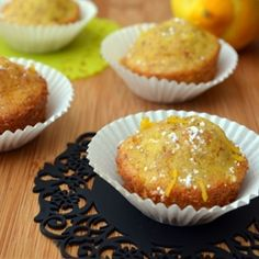 Light zesty citrus mini cupcakes made with almond flour and topped with an extra hint of almond extract. The perfect mini treat!