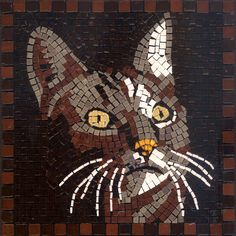Cat Mosaic Kit 7'' Square, 20x20cm,