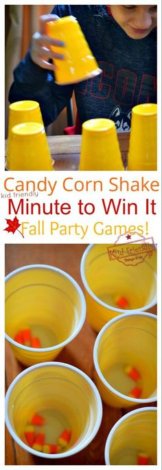 Over 10 Easy Minute to Win It Games that are Kid Friendly with a Fall Theme. These Thanksgiving Party games are perfect for kids, teens and adults. The whole family will enjoy these hilarious Thanksgiving or Fall Games to Play with Kids. Fall Party Games, Fall Games, Holiday Games, Harvest Party Games, Indoor Party Games, Indoor Games For Kids, Outdoor Games, Holiday Fun, Thanksgiving Games For Adults