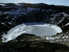 Kerid crater in April Iceland