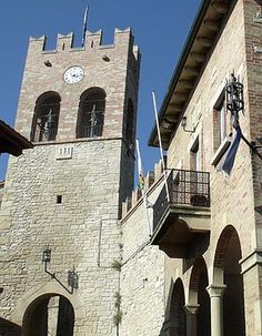 Serravalle Castle,  REPUBLIC of SAN MARINO.