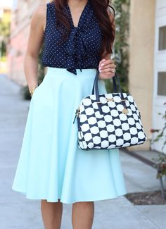 Mint, dots and bows