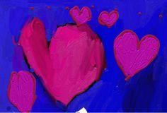 Digital painting by a five-year-old child - Viisivuotiaan lapsen digimaalaus