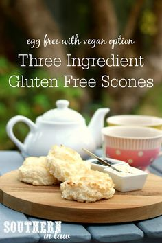 Easy Three Ingredient Gluten Free Scones Recipe - gluten free, vegan, nut free, egg free, dairy free, sugar free, clean eating recipe