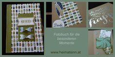 Fotobuch mit Sprüchen und Kuverts, damit man z.B. Geld verschenken kann und Platz für Fotos.