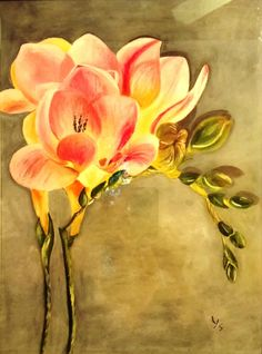 Freesia, 2014 (Paper 30x40, watercolor and tempera)