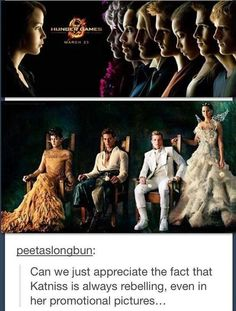 Katniss is a rebel