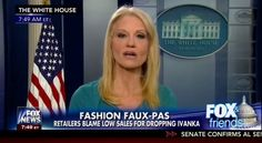 Kellyanne Conway, Counselor to the President of the United States, took to Fox & Friends this morning to plea for Fox viewers to go out and buy Ivanka Trump's clothing line. With the White House emblem in the background, she said, 'Go buy Ivanka's...