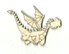Flying Dragon Unfinished Laser Cut Wood Shape MYTH19