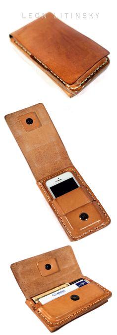 Leather Phone Case/Wallet 2 Sides. By Leon Litinsky.