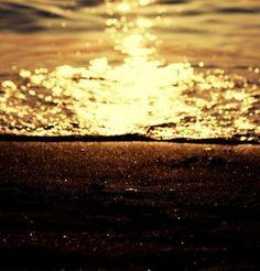Greek beach at sunset