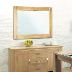 aston solid oak wall mirror baumhaus mobel solid oak medium wall mirror