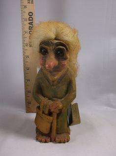 Vintage Norwegian Troll Figure Handmade in Norway by retroricks