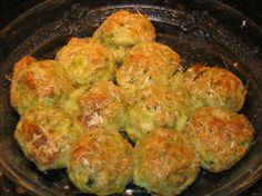 Parmesan Broccoli Balls from Food.com: This is an excellent hot appetizer, and a particular favorite of mine to serve with any kind of meatballs. These always go fast once they come out of the oven, and are a good way to sneak in some tasty vegetables.