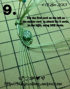 All at Sea Micro Macrame Bracelet tutorial picture 9