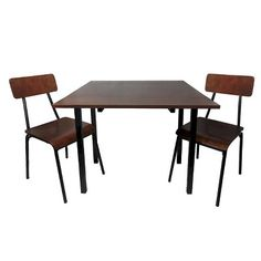 I spied with my Target eye: Threshold 3 Piece Dining Table Set - Dark Chestnut, from the Weekly Ad http://weeklyad.target.com
