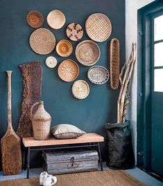 Cute Shabby chic and boho chic decor ideas to decorate your room if your like the bohemian gypsy style. Decoration Hall, Decoration Entree, Entrance Decor, Rustic Entryway, Entryway Decor, Cafe Wall, Chic Bathrooms, Decorate Your Room, Shabby Chic Homes