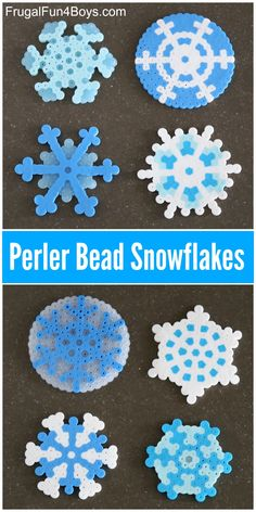 Design Beautiful Perler Bead Snowflakes - Frugal Fun For Boys and Girls - Kids Idee - amazing craft Winter Activities For Kids, Winter Crafts For Kids, Crafts For Kids To Make, Winter Fun, Stem Activities, Arts And Crafts For Teens, Art And Craft Videos, Snowflake Craft, Snowflake Pattern