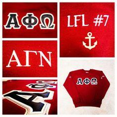 Alpha Phi Omega letters! #gogreek