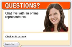 Invitation popup window for live chat with an online representative