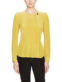 Isabel Marant Sanders Silk Pleated Top