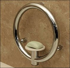 Soap Dish Grab Bar for Bathrooms and Showers with Integrated Support Rail