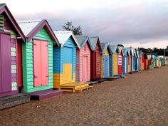 Colorful Beach Huts, Brighton Beach, Melbourne, Australia