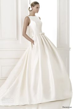 pronovias-pre-2015-barcaza-sleeveless-wedding-dress