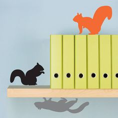 three squirrels wall stickers by lauren moriarty & co | notonthehighstreet.com