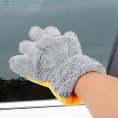 Soft Faux Wool Mitt Car Beauty Tool Wash Mitten Washing Glove Cleaning Brush OO