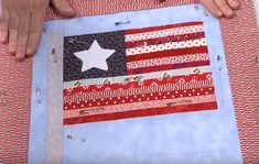 Make a flag pattern out of scrap fabrics | Memorial Day Quilting Project | DIY Scrappy American Flag Quilt Block