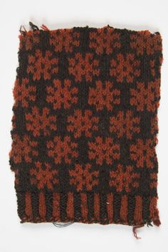 Fragment of an old mitten pattern, Estonia