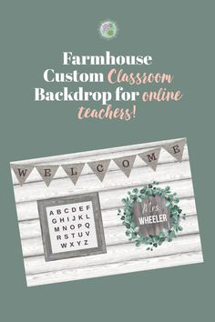 Customize your own online teaching backdrop! This beautiful farmhouse decor is printed on high quality vinyl with grommets for easy hanging! Classroom Background, Office Background, Science Classroom Decorations, Online Classroom, Rustic Background, Vinyl Backdrops, Vinyl Banners, Small Rings, Light Reflection