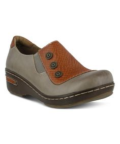 Take a look at this L'Artiste by Spring Step Gray Leather Mehdi Clog today!