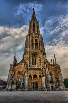 I climbed to the top of this cathedral before my son was born in Augsburg, Germany. This is the Muenster Cathedral. Ulm, Germany