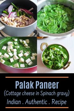 Looking for easy to make yet delicious restaurant style palak paneer recipe? This is the BEST Punjabi palak paneer recipe I have ever made Paneer Recipes, Garlic Recipes, Curry Recipes, Vegetable Recipes, Indian Food Recipes, Soup Recipes, Vegetarian Recipes, Rice Recipes, Veggie Food