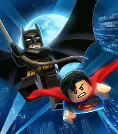 I'm a huge fan of the LEGO DC Superheroes line - with a special affinity for the excellent, beautiful, and roundly addictive LEGO BATMAN and LEGO BATMAN DC Super Heroes games (the later of which throws Batman, Robin, and Superman into. Lego Batman 2, Lego Marvel, Marvel Dc, Batman Et Superman, Spiderman, Marvel Comics, Batman Arkham, Marvel Heroes, Superman Birthday Party